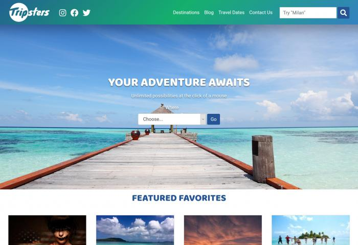 Tripsters Website